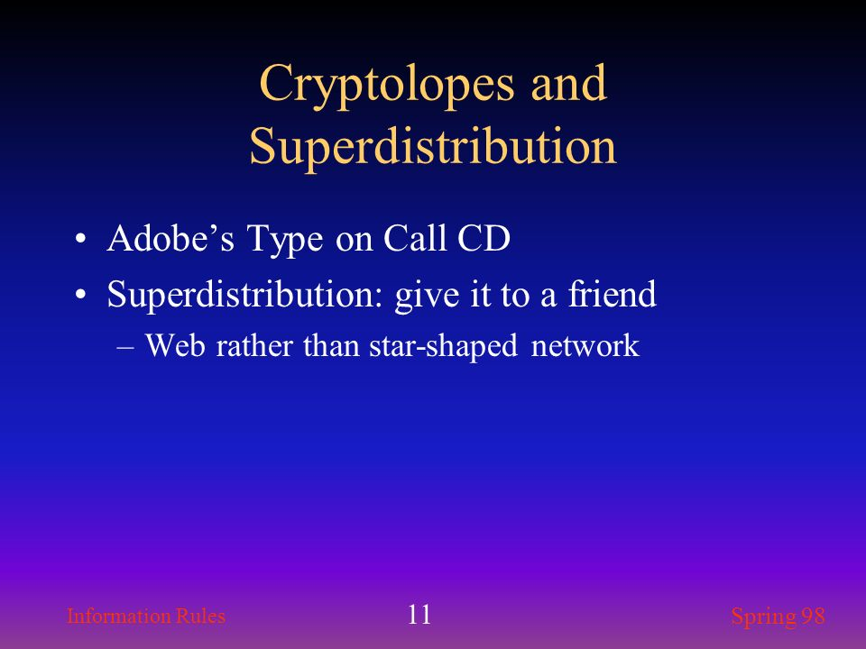 Cryptolopes and Superdistribution