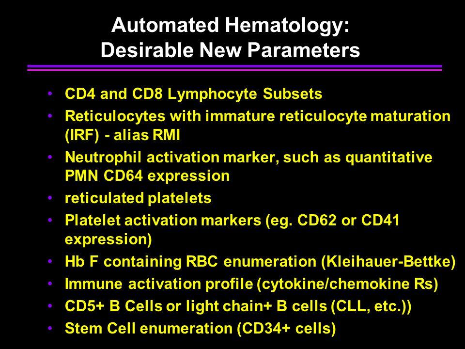 Automated Hematology: Desirable New Parameters
