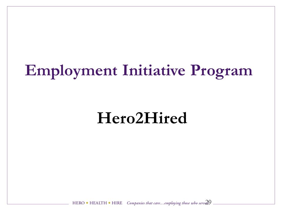 Employment Initiative Program