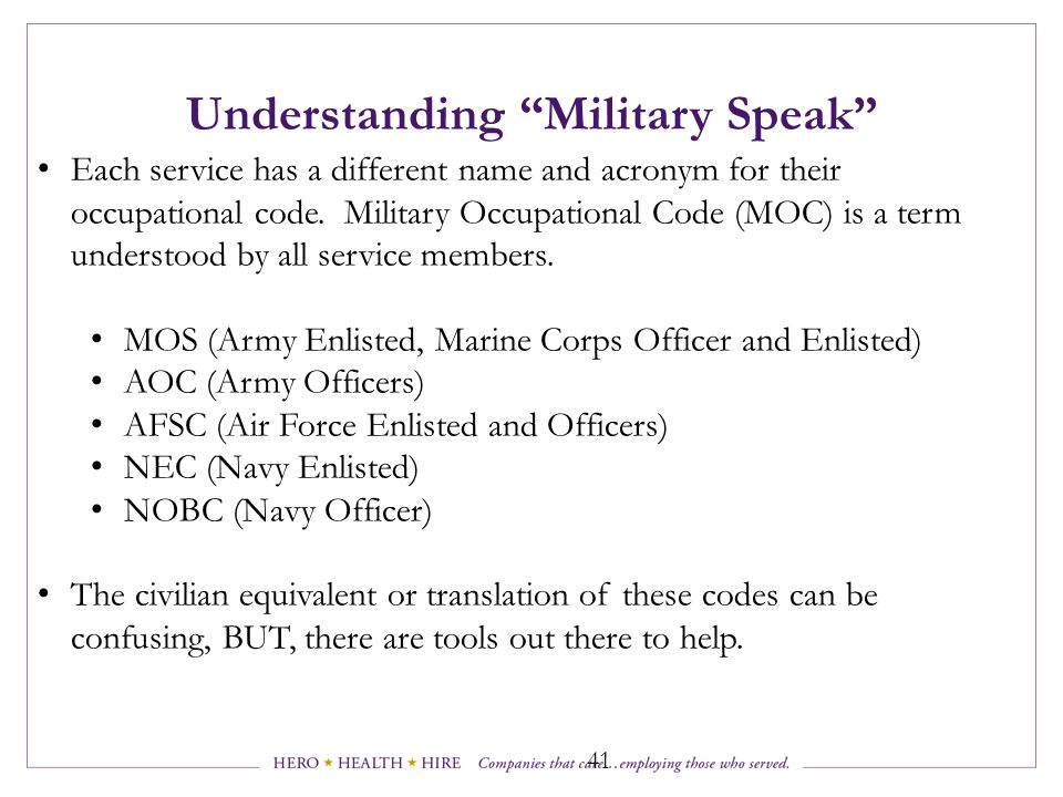 Understanding Military Speak