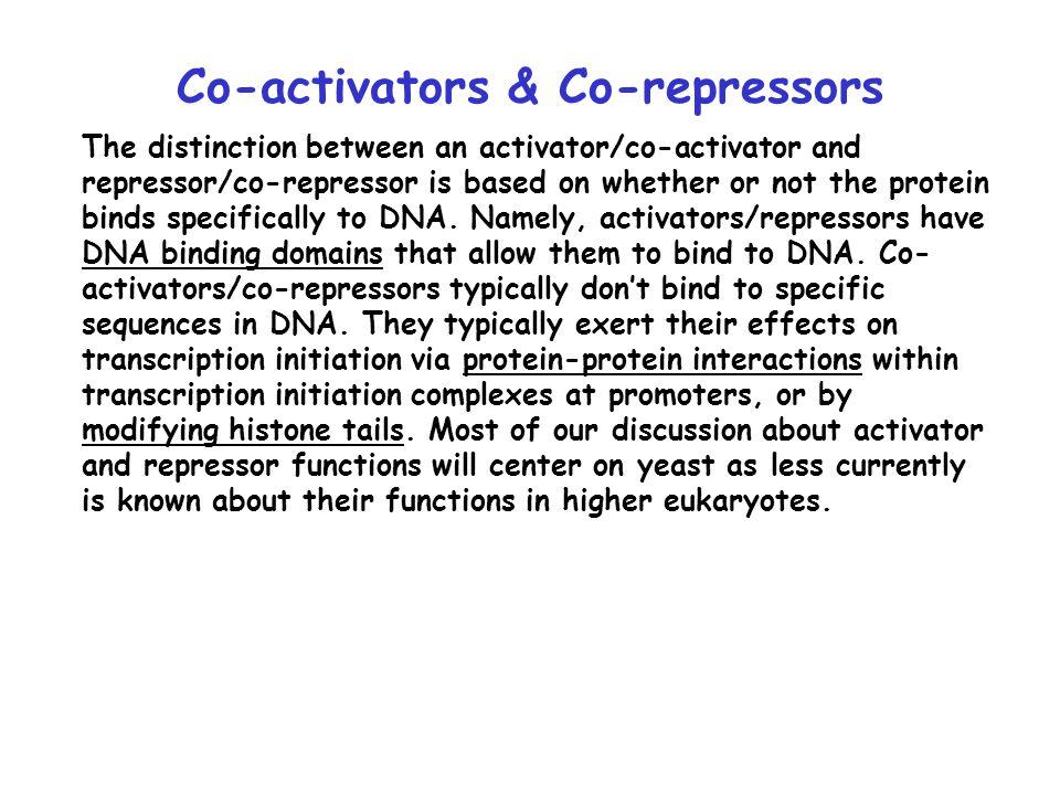 Co-activators & Co-repressors