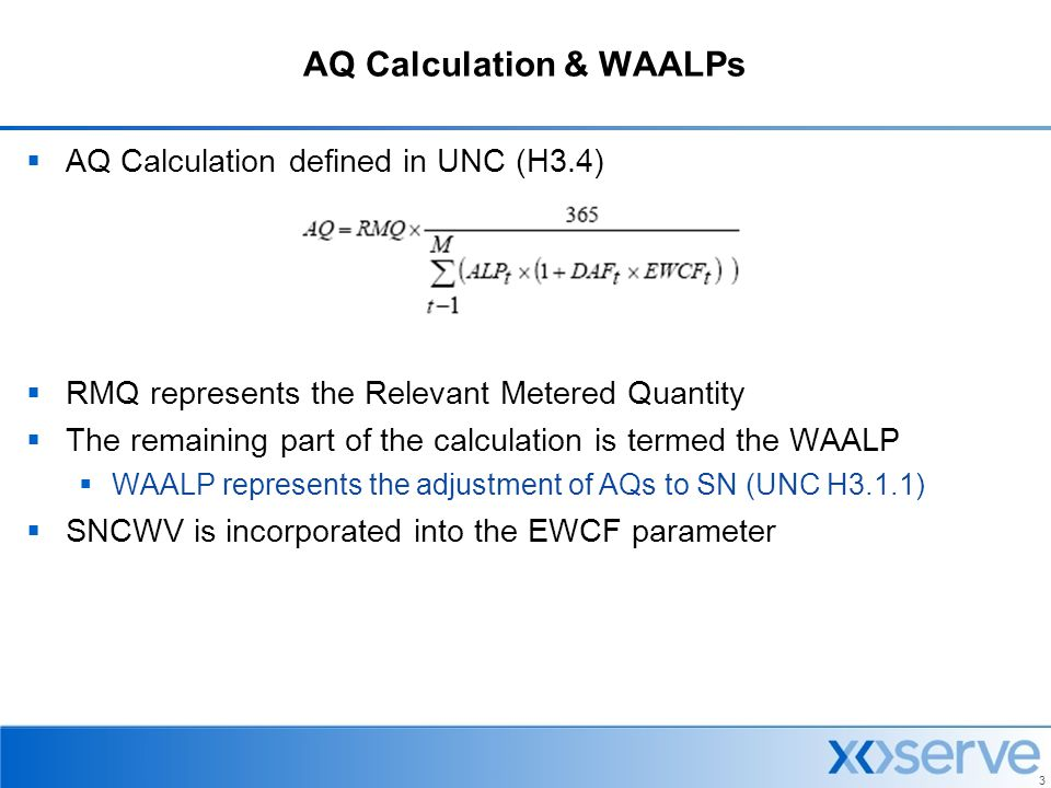 AQ Calculation & WAALPs