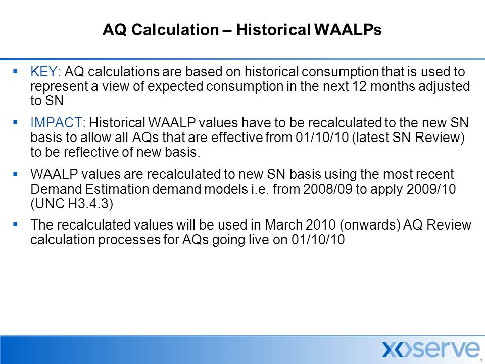 AQ Calculation – Historical WAALPs