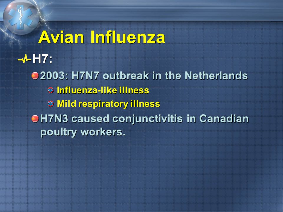 Avian Influenza H7: 2003: H7N7 outbreak in the Netherlands