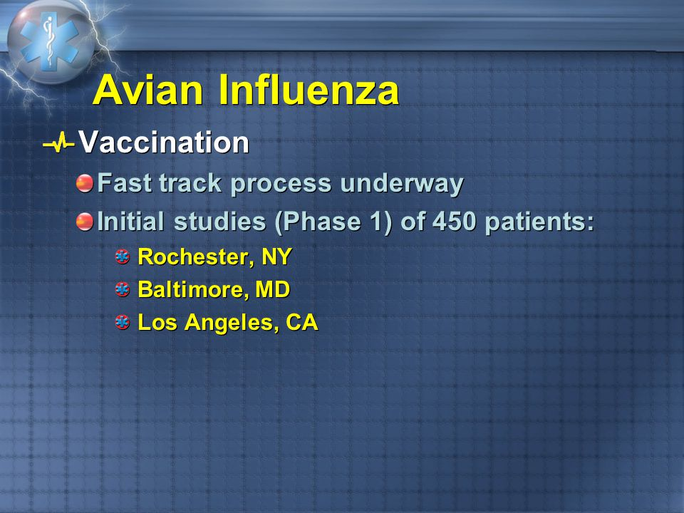 Avian Influenza Vaccination Fast track process underway