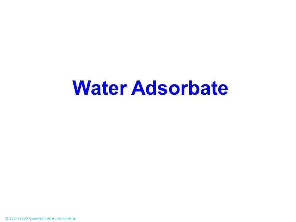 Water Adsorbate