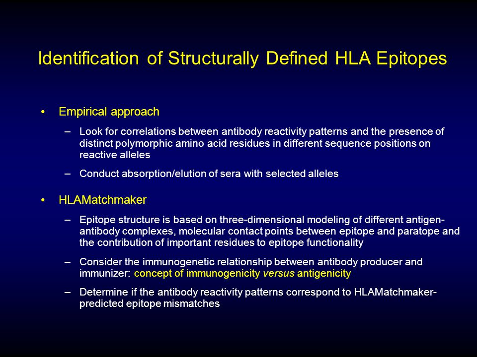 Identification of Structurally Defined HLA Epitopes