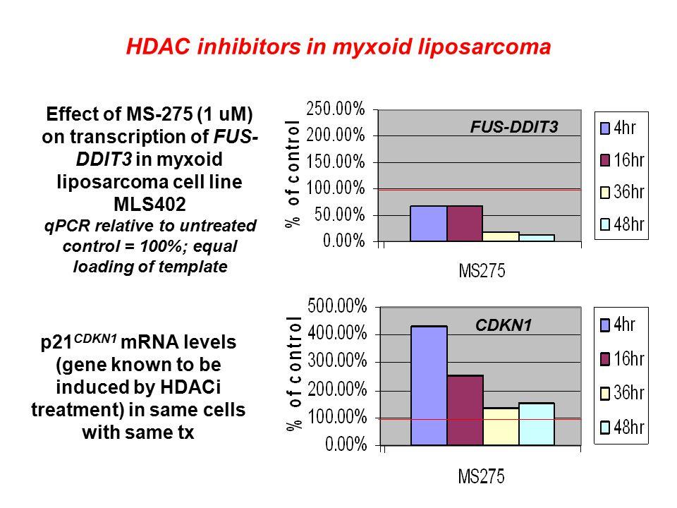 HDAC inhibitors in myxoid liposarcoma