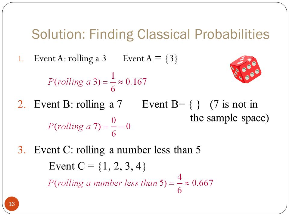 Solution: Finding Classical Probabilities