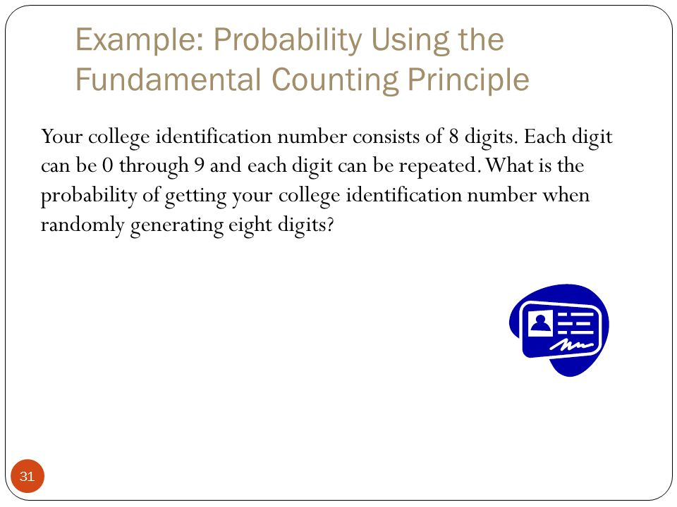 Example: Probability Using the Fundamental Counting Principle