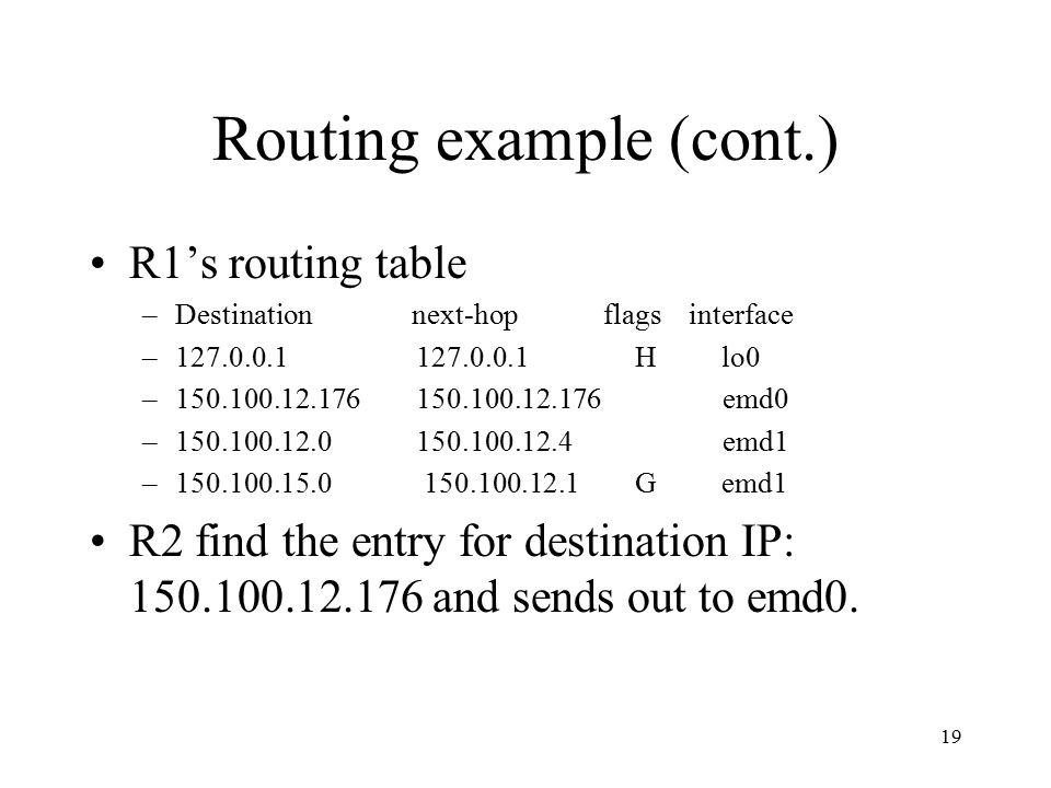 Routing example (cont.)