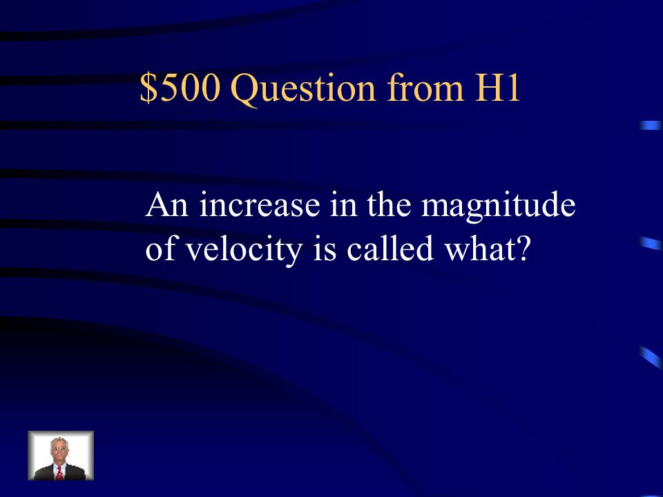 $500 Question from H1 An increase in the magnitude