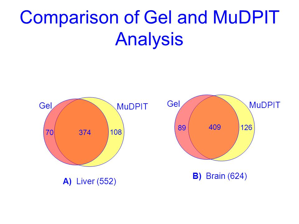 Comparison of Gel and MuDPIT Analysis