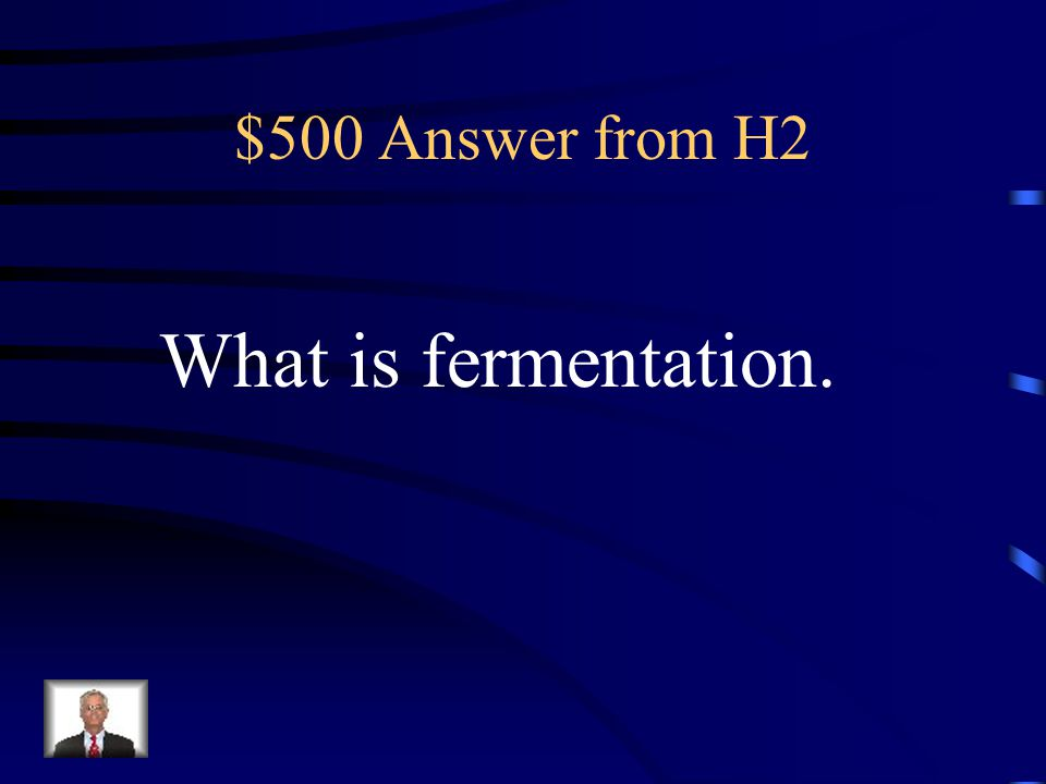 $500 Answer from H2 What is fermentation.