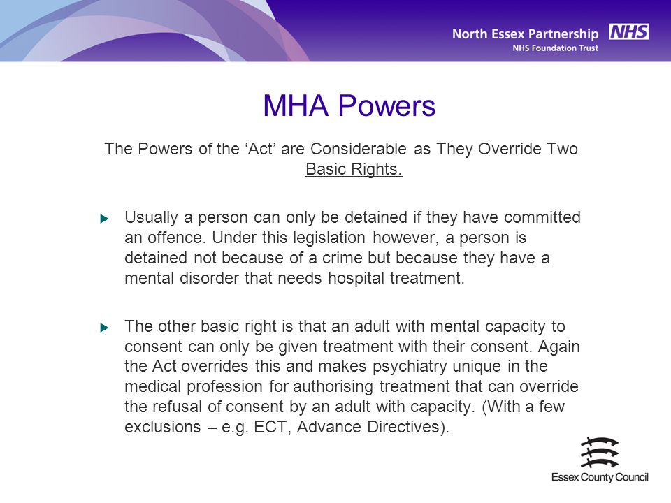 MHA Powers The Powers of the 'Act' are Considerable as They Override Two Basic Rights.