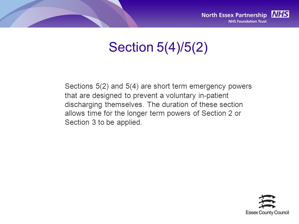 Section 5(4)/5(2)