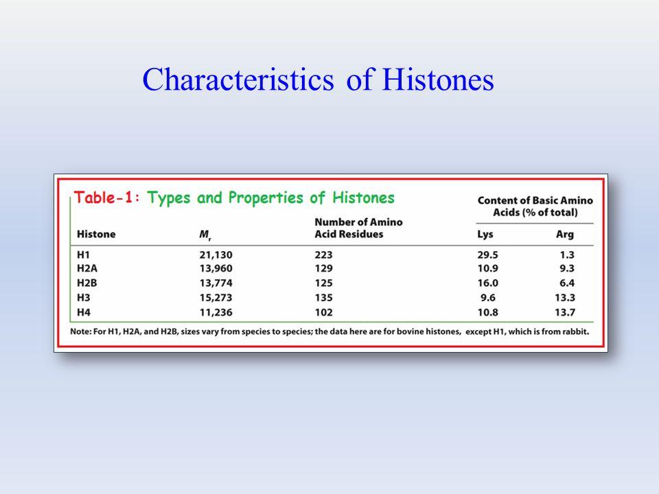 Characteristics of Histones