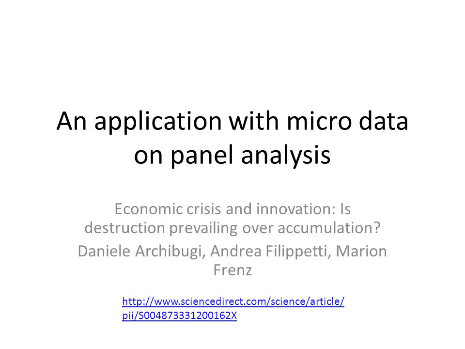 An application with micro data on panel analysis