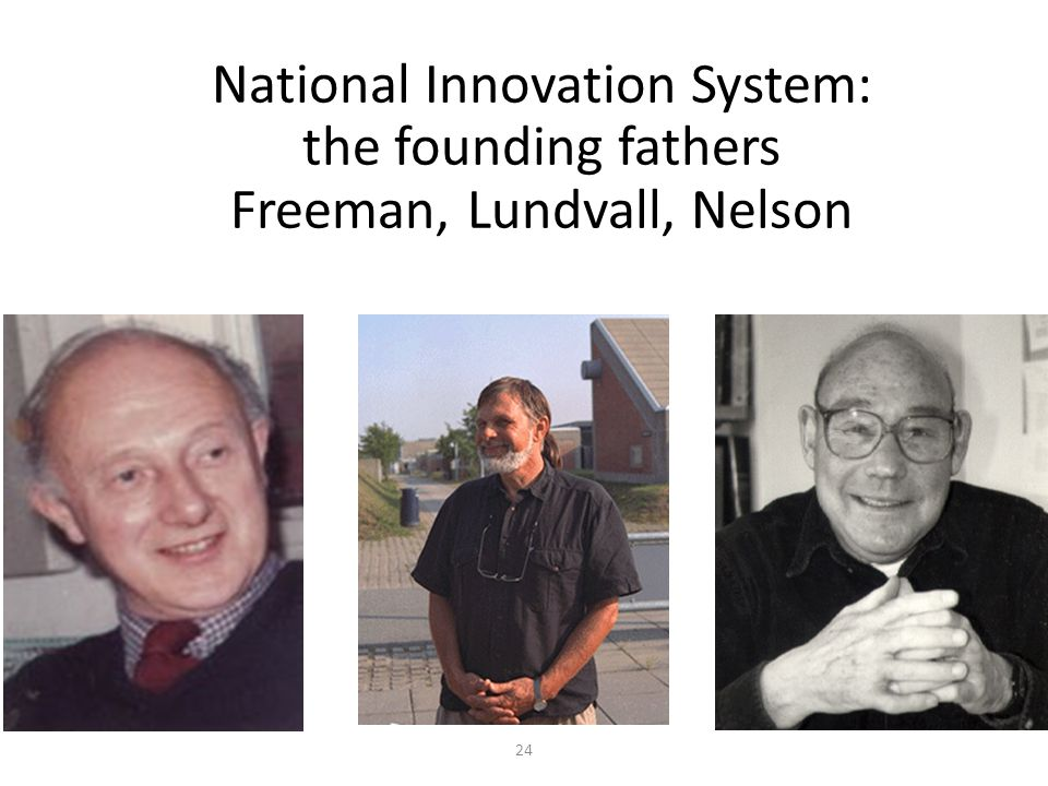 National Innovation System: the founding fathers Freeman, Lundvall, Nelson