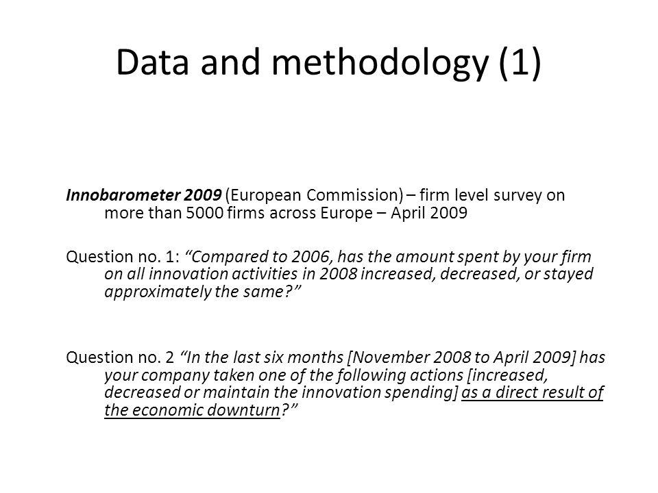 Data and methodology (1)