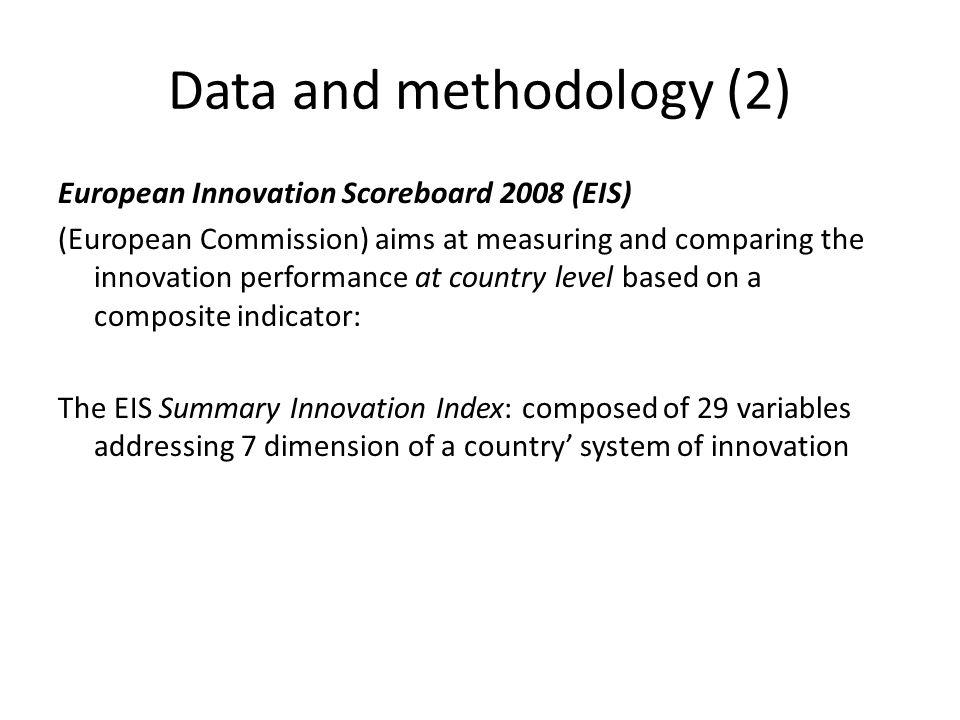 Data and methodology (2)