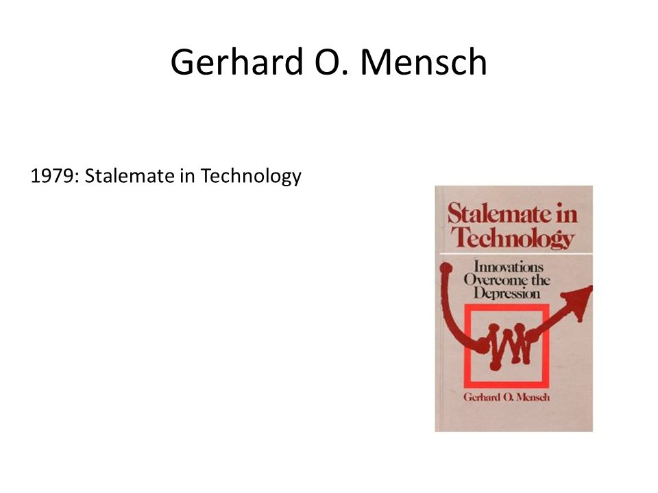 Gerhard O. Mensch 1979: Stalemate in Technology