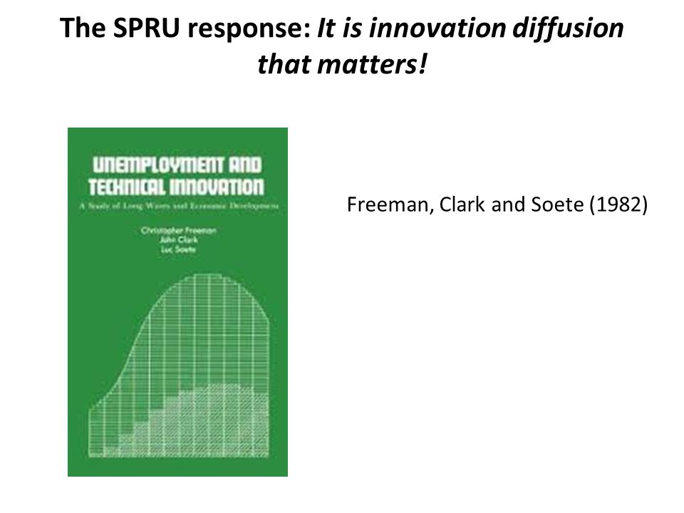 The SPRU response: It is innovation diffusion that matters!