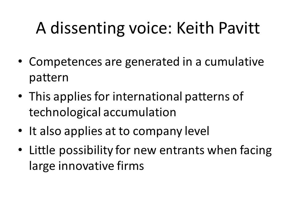 A dissenting voice: Keith Pavitt