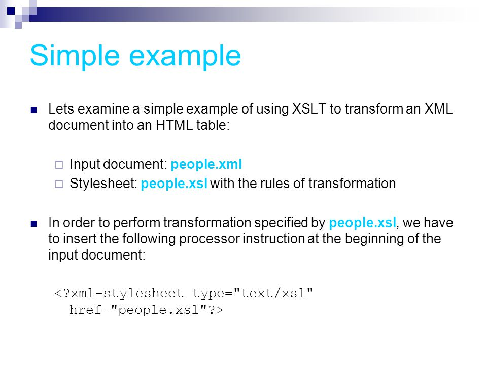 XSLT – Extensible Style Language for Transformation - ppt ...