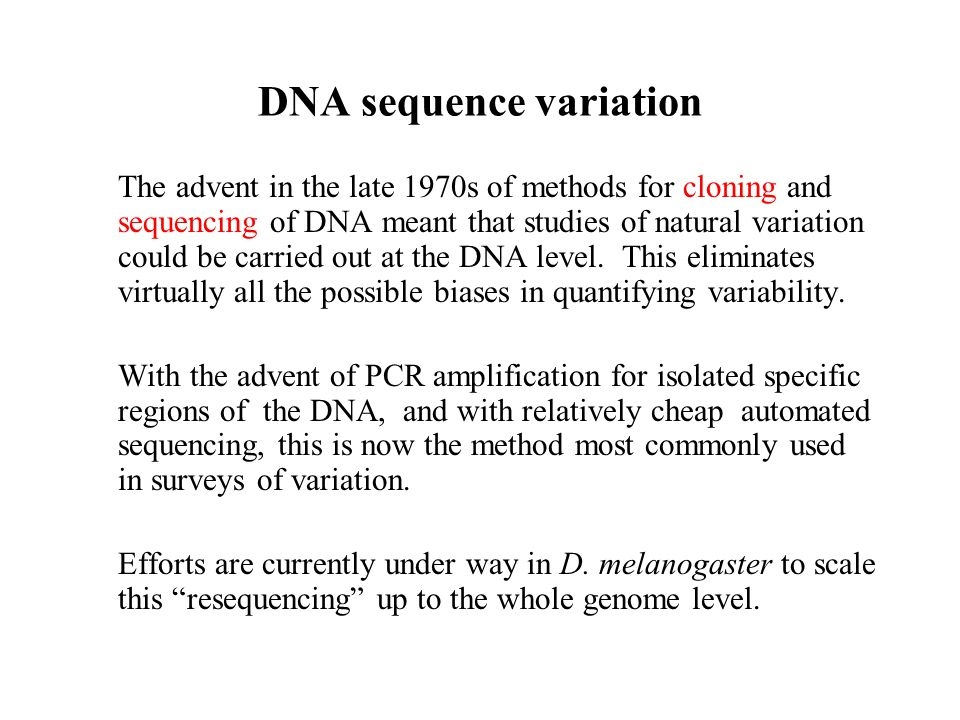 DNA sequence variation