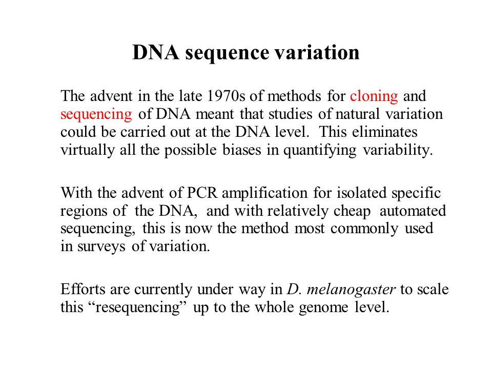 DNA sequence variation