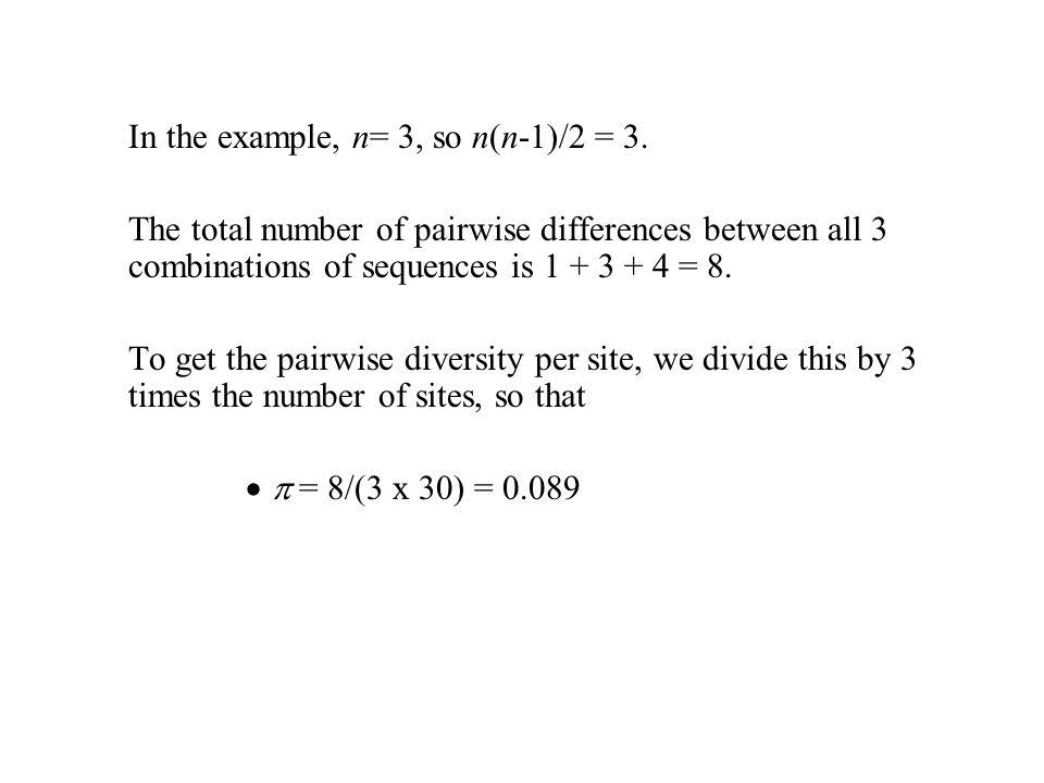 In the example, n= 3, so n(n-1)/2 = 3.