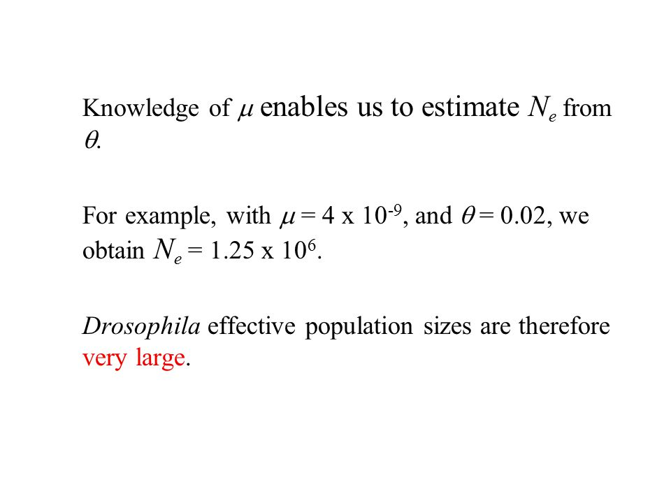 Knowledge of m enables us to estimate Ne from q.
