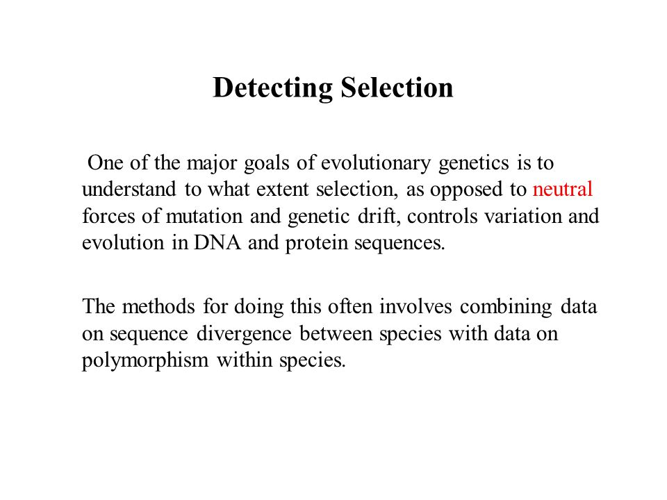 Detecting Selection