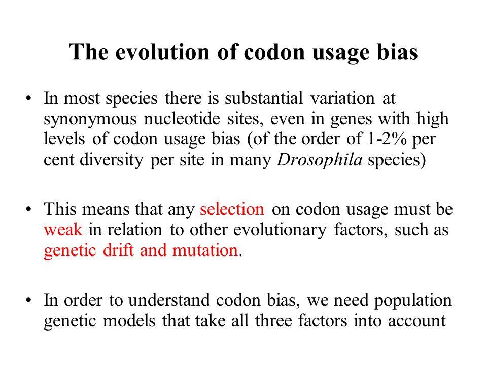 The evolution of codon usage bias