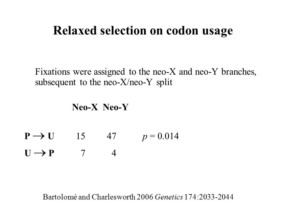 Relaxed selection on codon usage