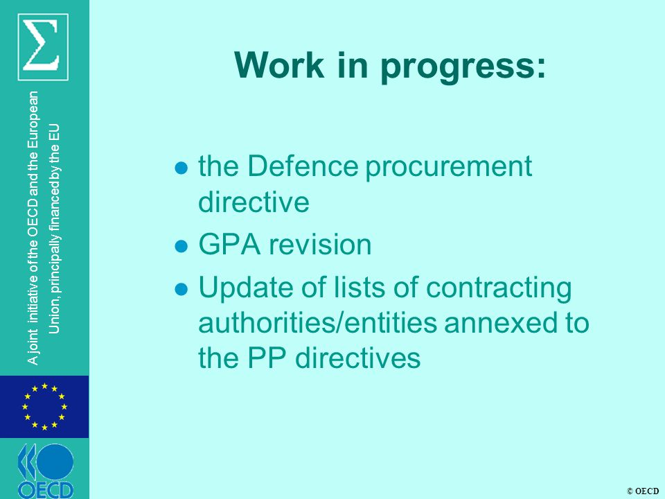 Work in progress: the Defence procurement directive GPA revision