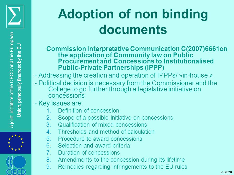Adoption of non binding documents