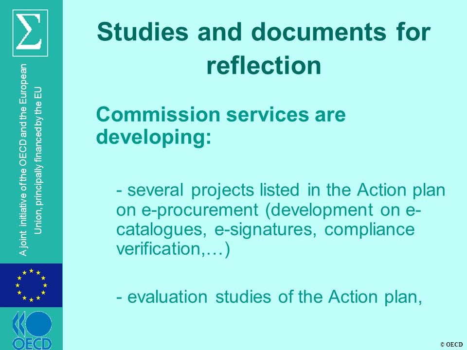 Studies and documents for reflection