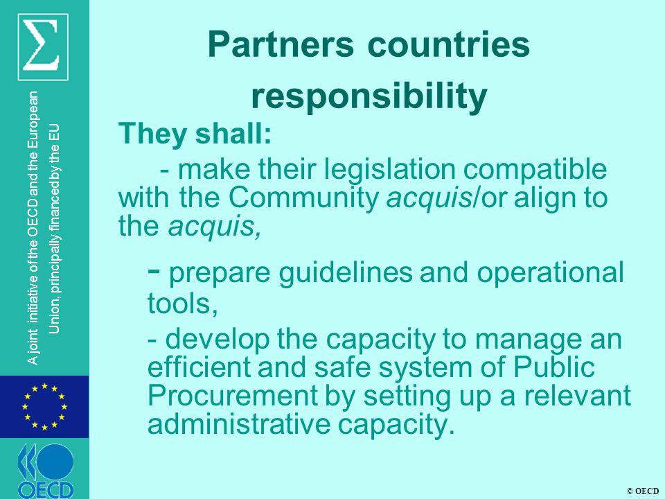 Partners countries responsibility