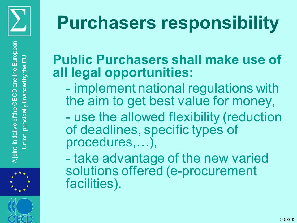 Purchasers responsibility