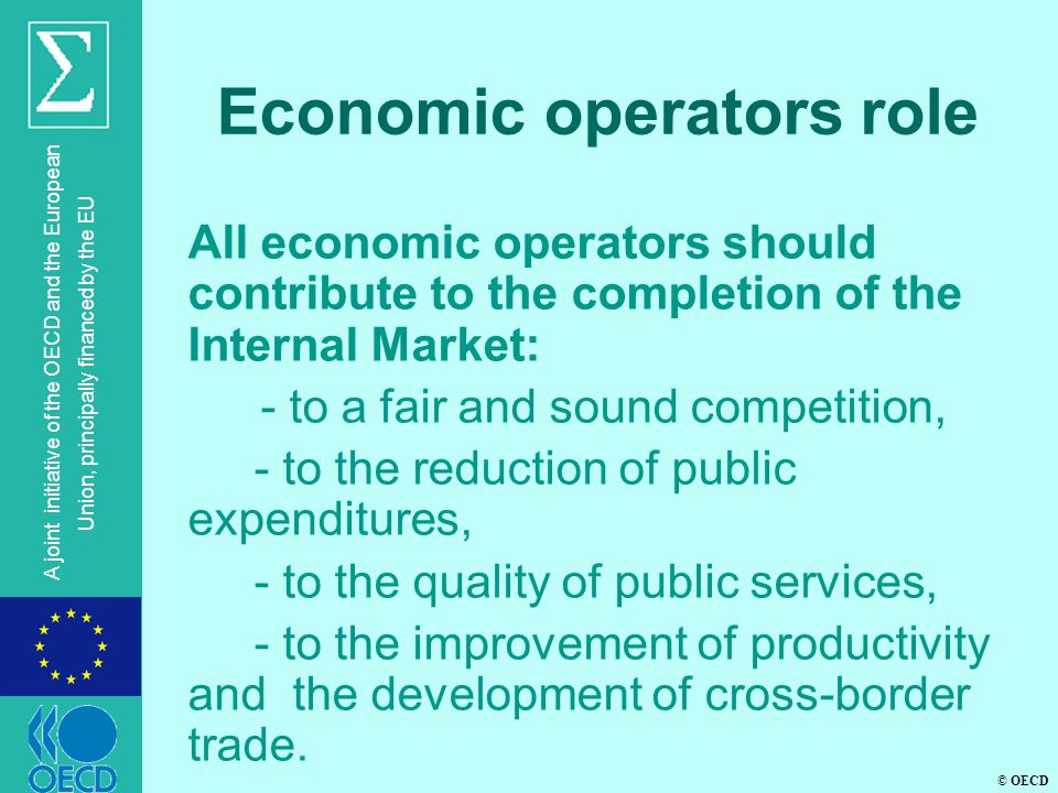 Economic operators role