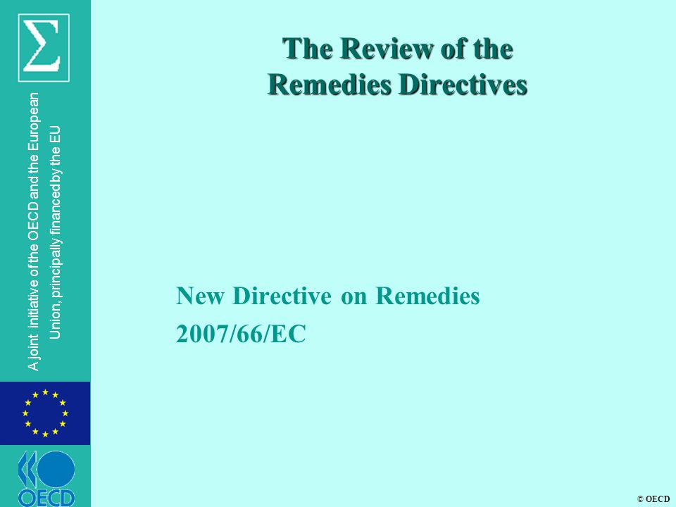 The Review of the Remedies Directives