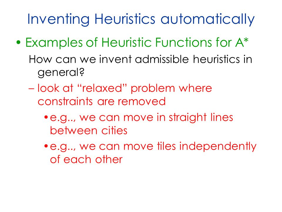 Inventing Heuristics automatically