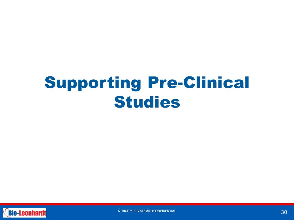 Supporting Pre-Clinical Studies
