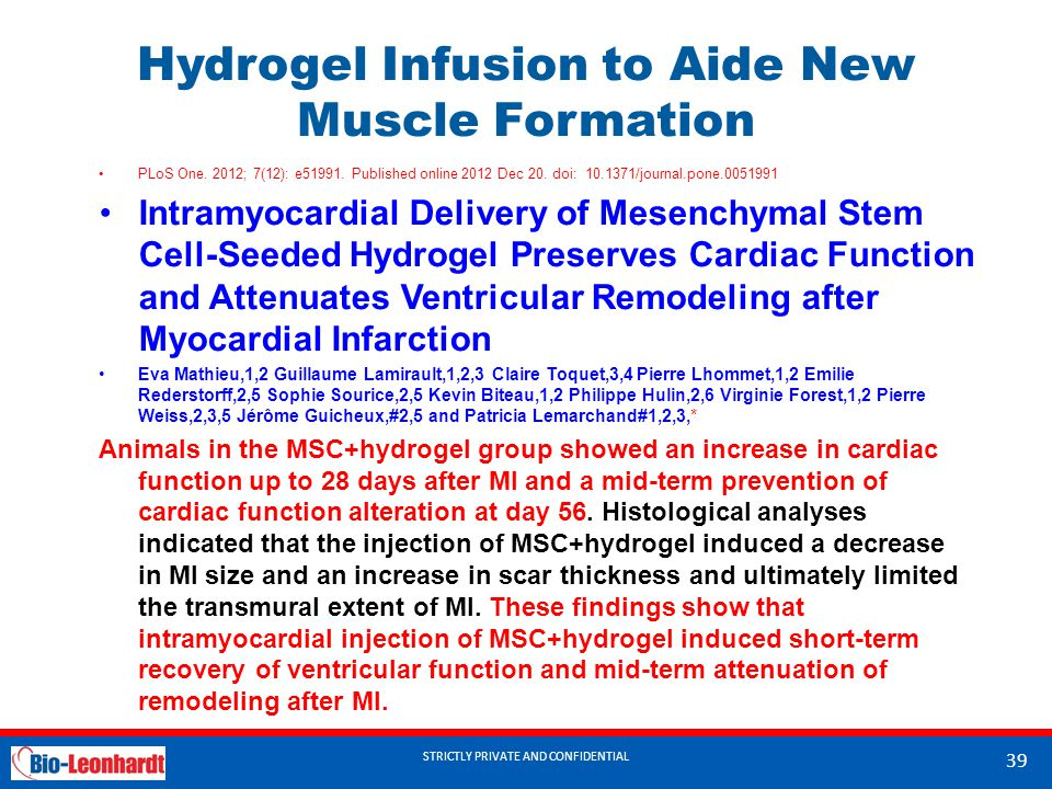 Hydrogel Infusion to Aide New Muscle Formation