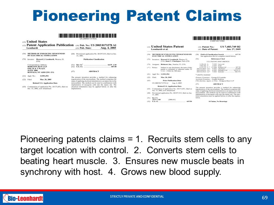 Pioneering Patent Claims