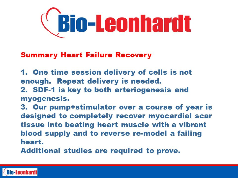 Summary Heart Failure Recovery 1