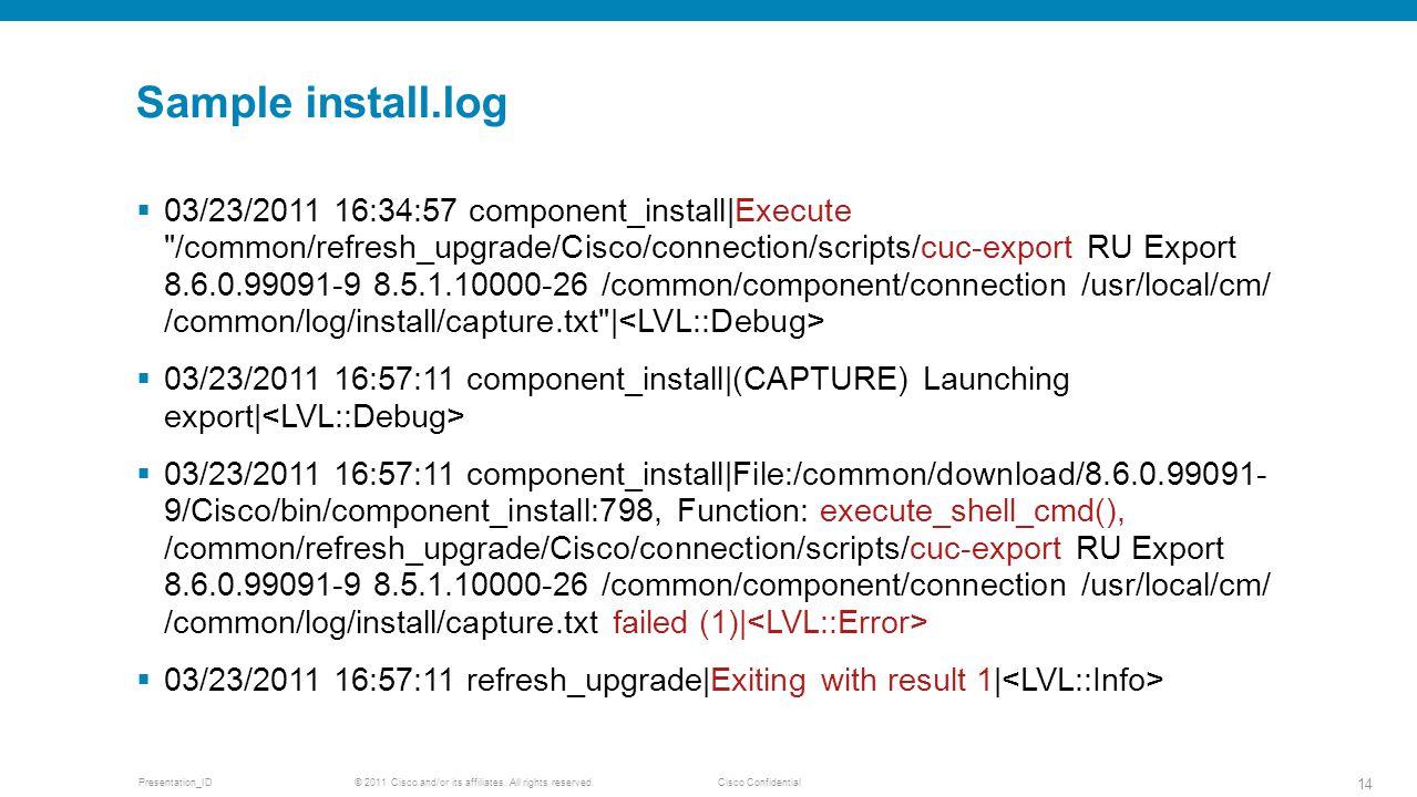 Sample install.log