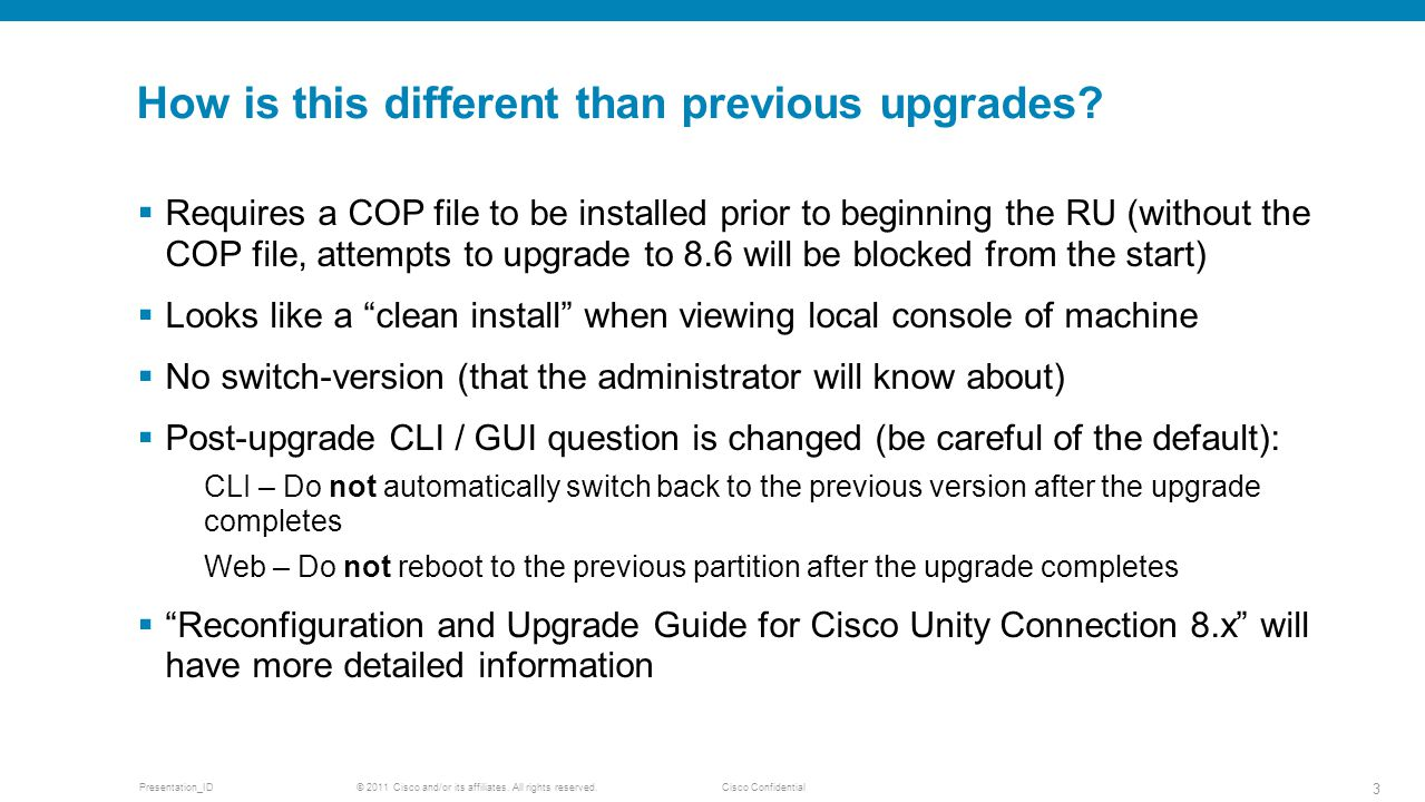 How is this different than previous upgrades
